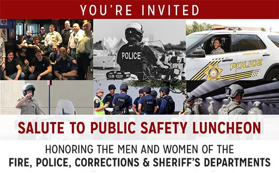 Photo of the Chamber Salute To Public Safety Event Flyer
