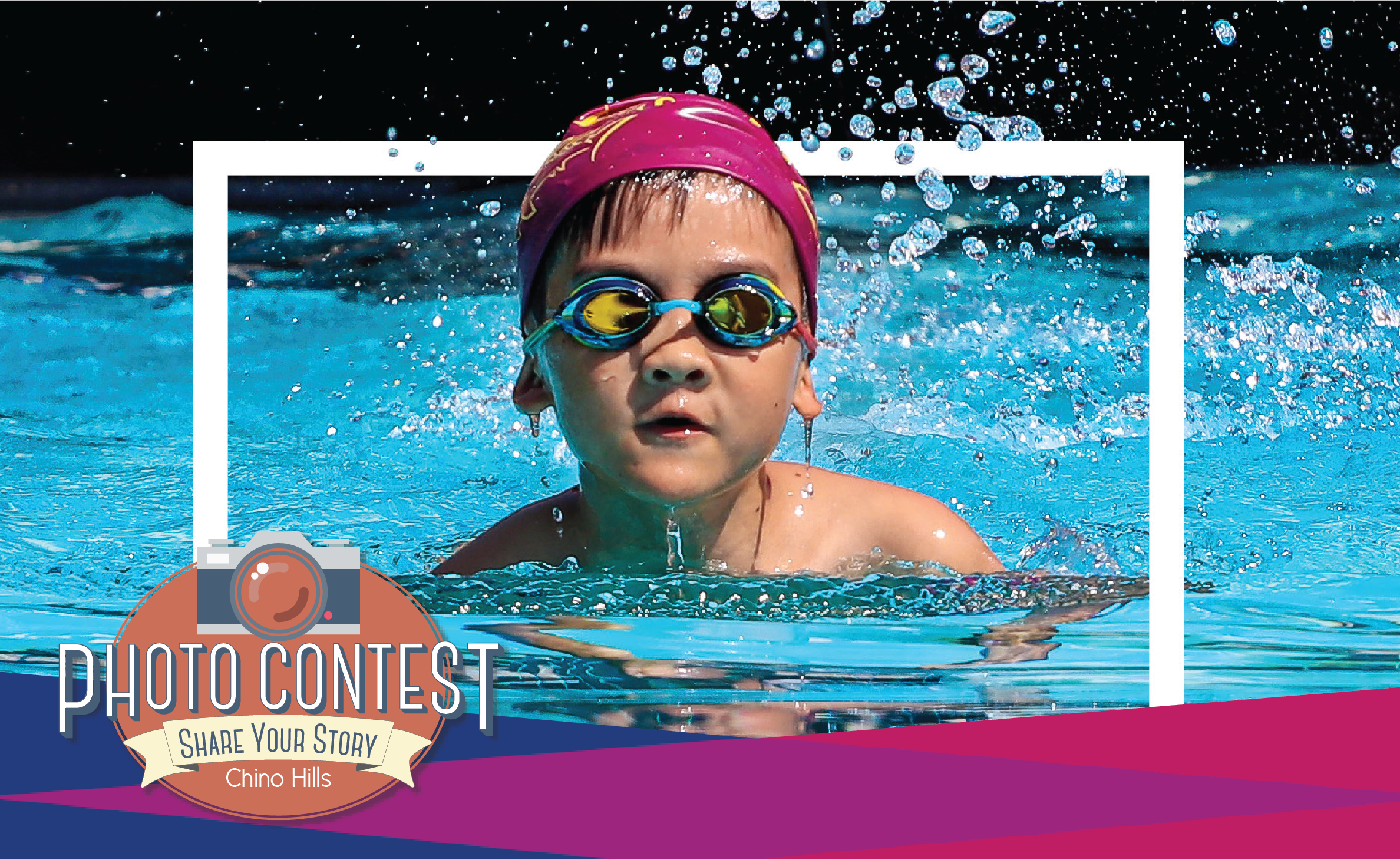 Photo Contest 2019 Grand Prize Winner of Boy with Swim Cap and Goggles in Pool