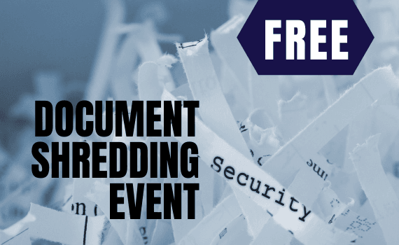 Free Document Shredding Event Graphic