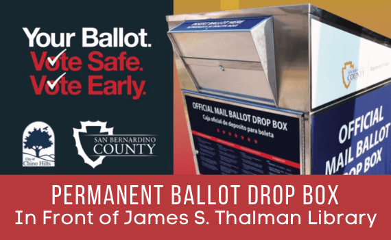 Permament Ballot Drop Box Location in front of James S. Thalman Library Photo