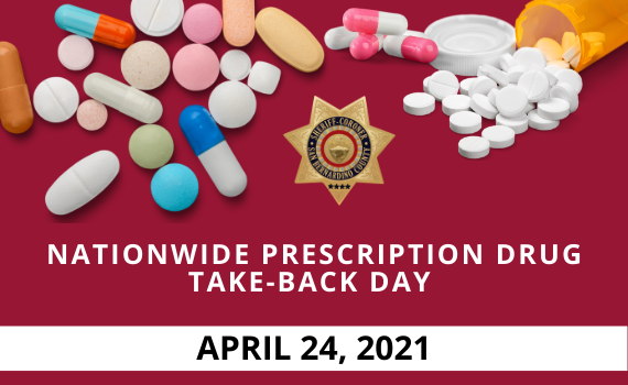 Prescription Drug Take-back Day April 24 Graphic