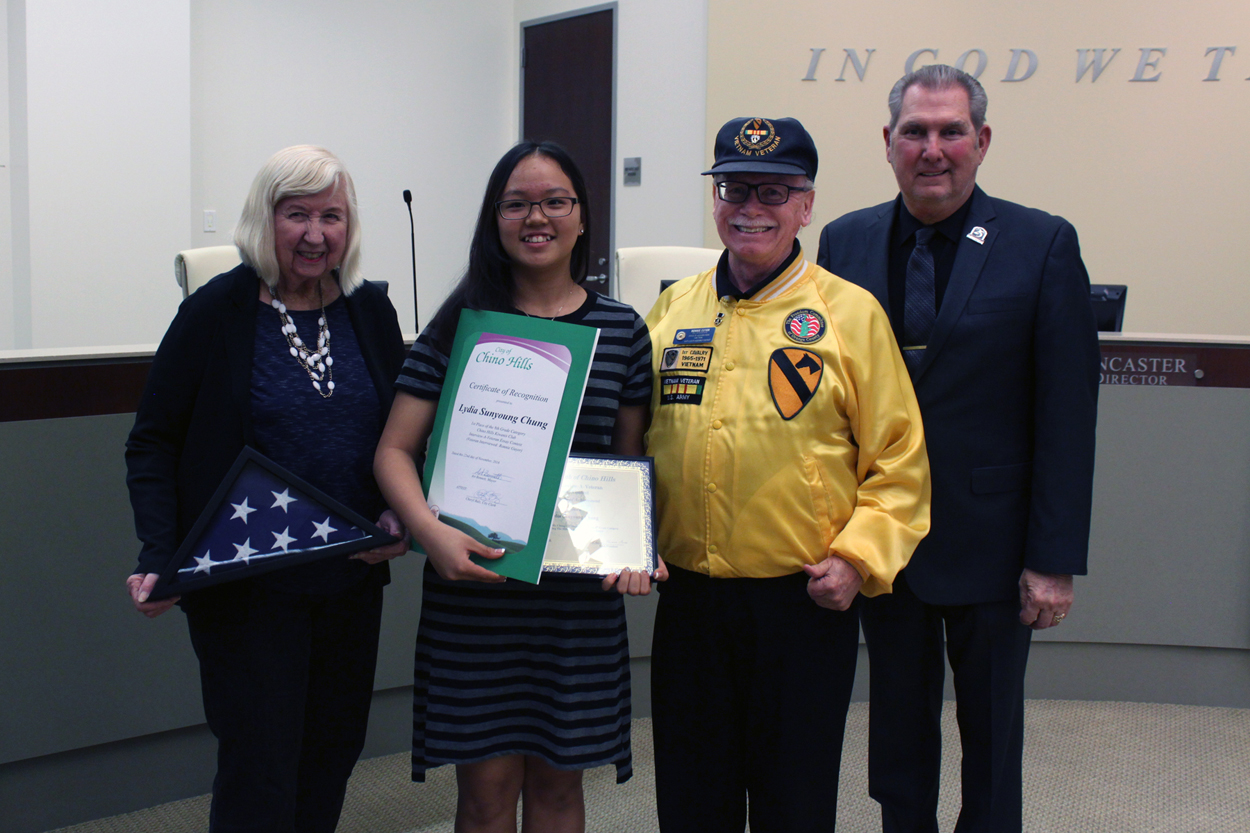 Interview a Veteran Contest's 8th Grade 1st Place Winner Lydia Sunyoung Chung