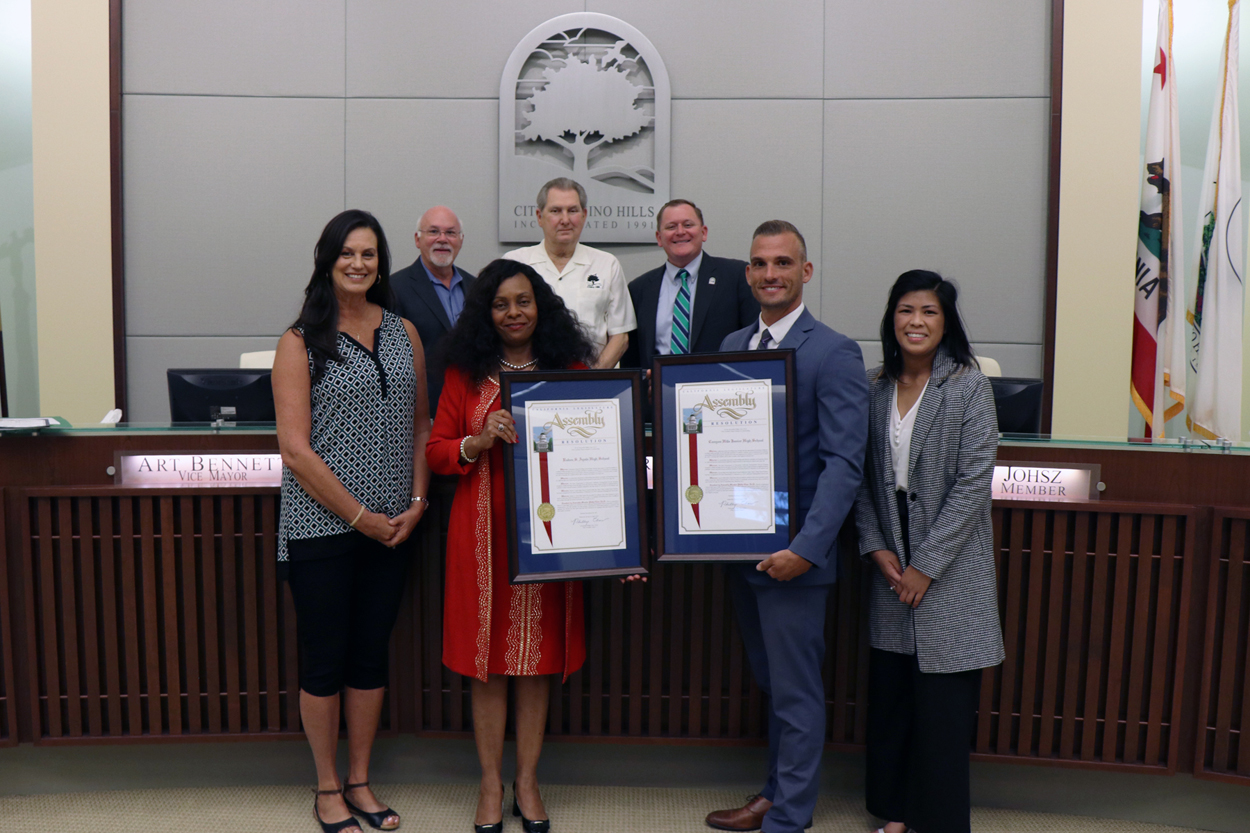 Ayala HS and Canyon Hills Jr HS as 2019 California Distinguished Schools