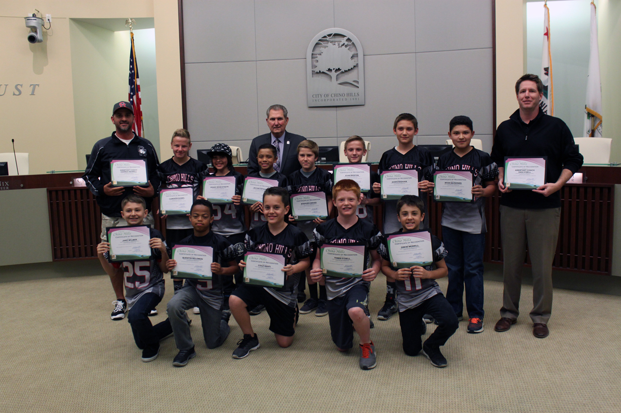 Chino Hills Jr. All American Football Team Jr. Pee Wee Division 2