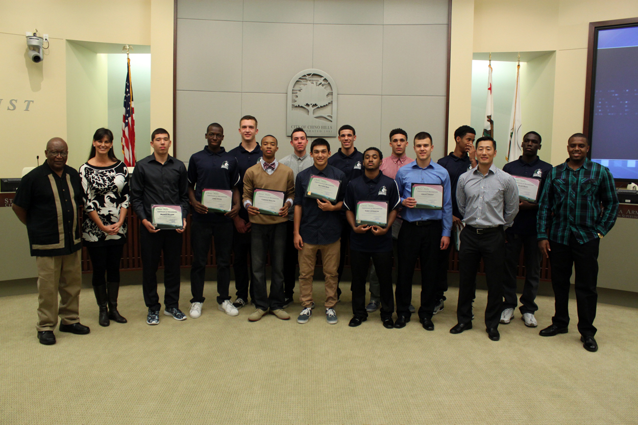 Chino Hills High School Varsity Basketball Team