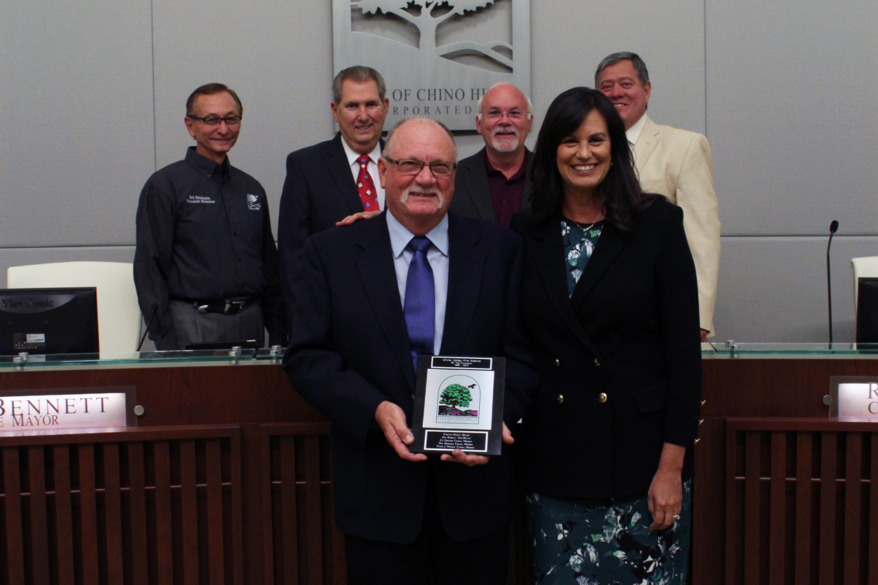 Chino Valley Fire District receiving a City Tile