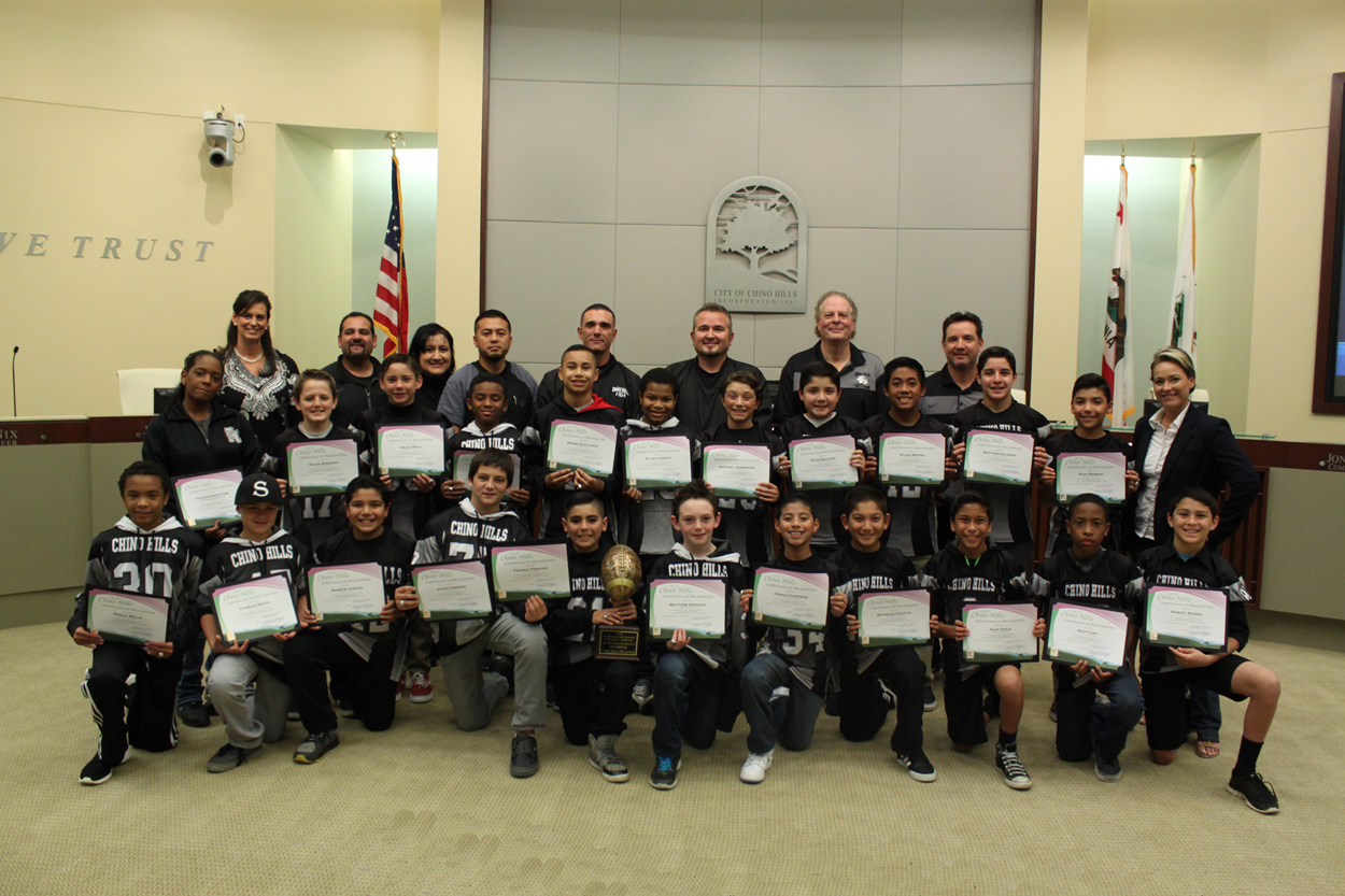 Chino Hills Jr All American Football Team- Junior Pee Wee Division