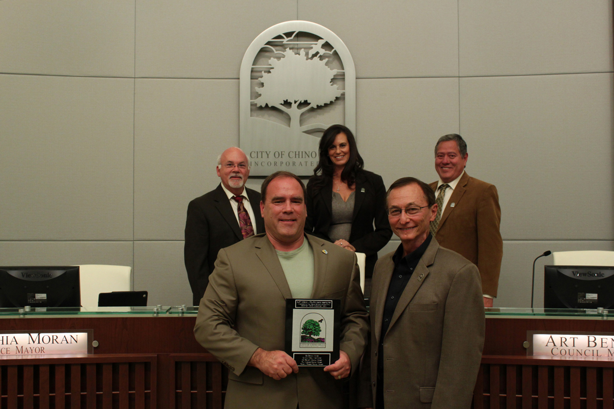 Assemblyman Curt Hagman Accepts City Tile
