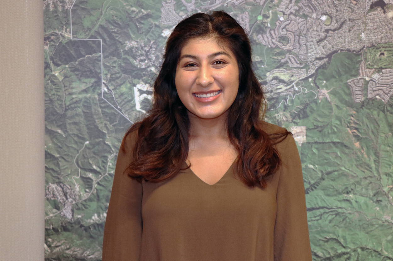 new Parks and Recreation Commission Student Member Serra Vithlani