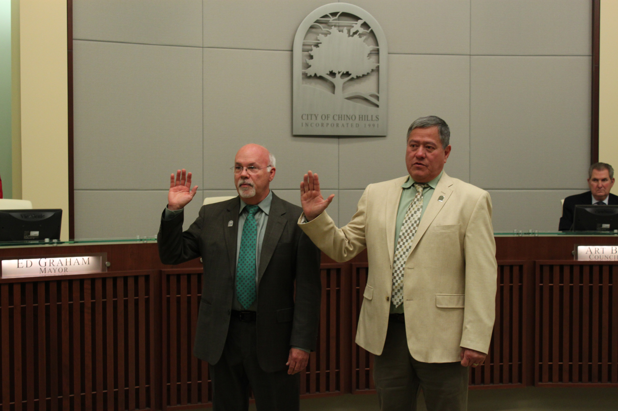 Ray Marquez and Peter Rogers Swearing In