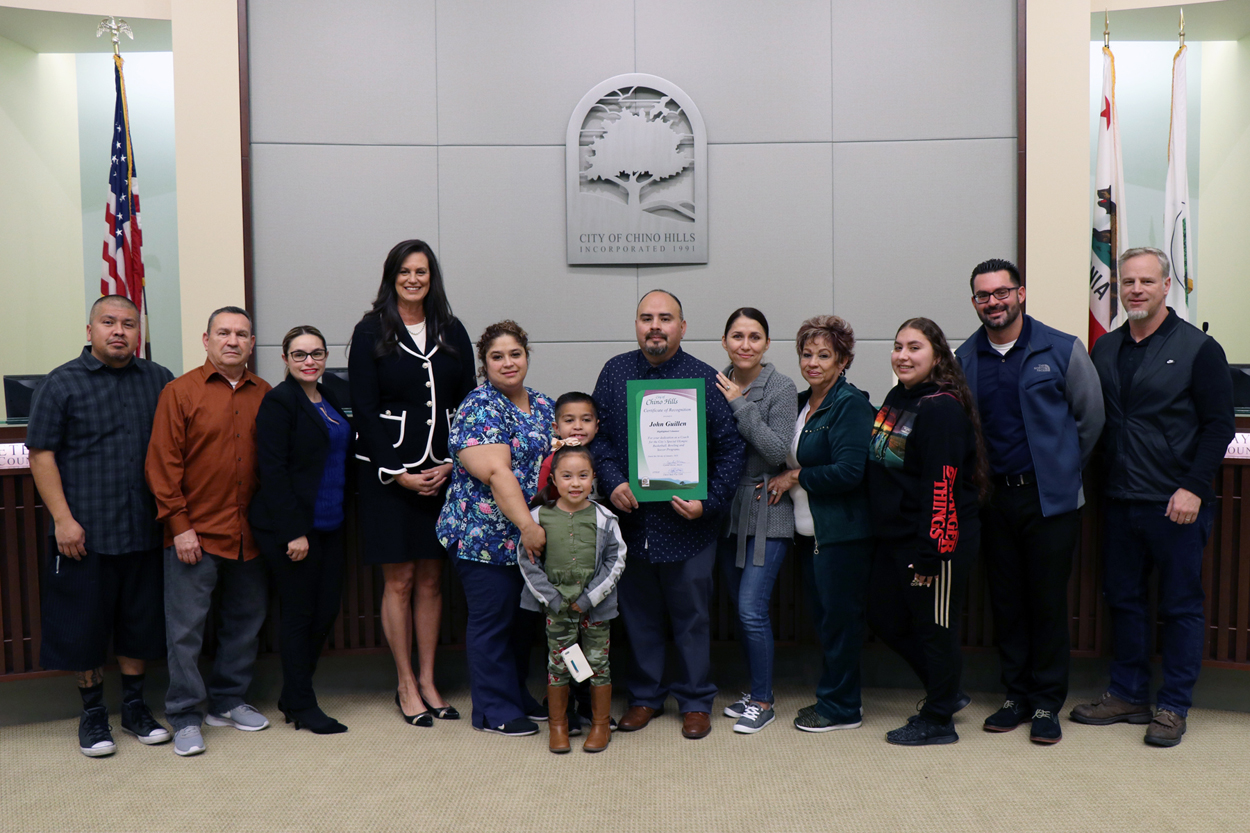 Semi Annual Highlighted Volunteer John Guillen and Family