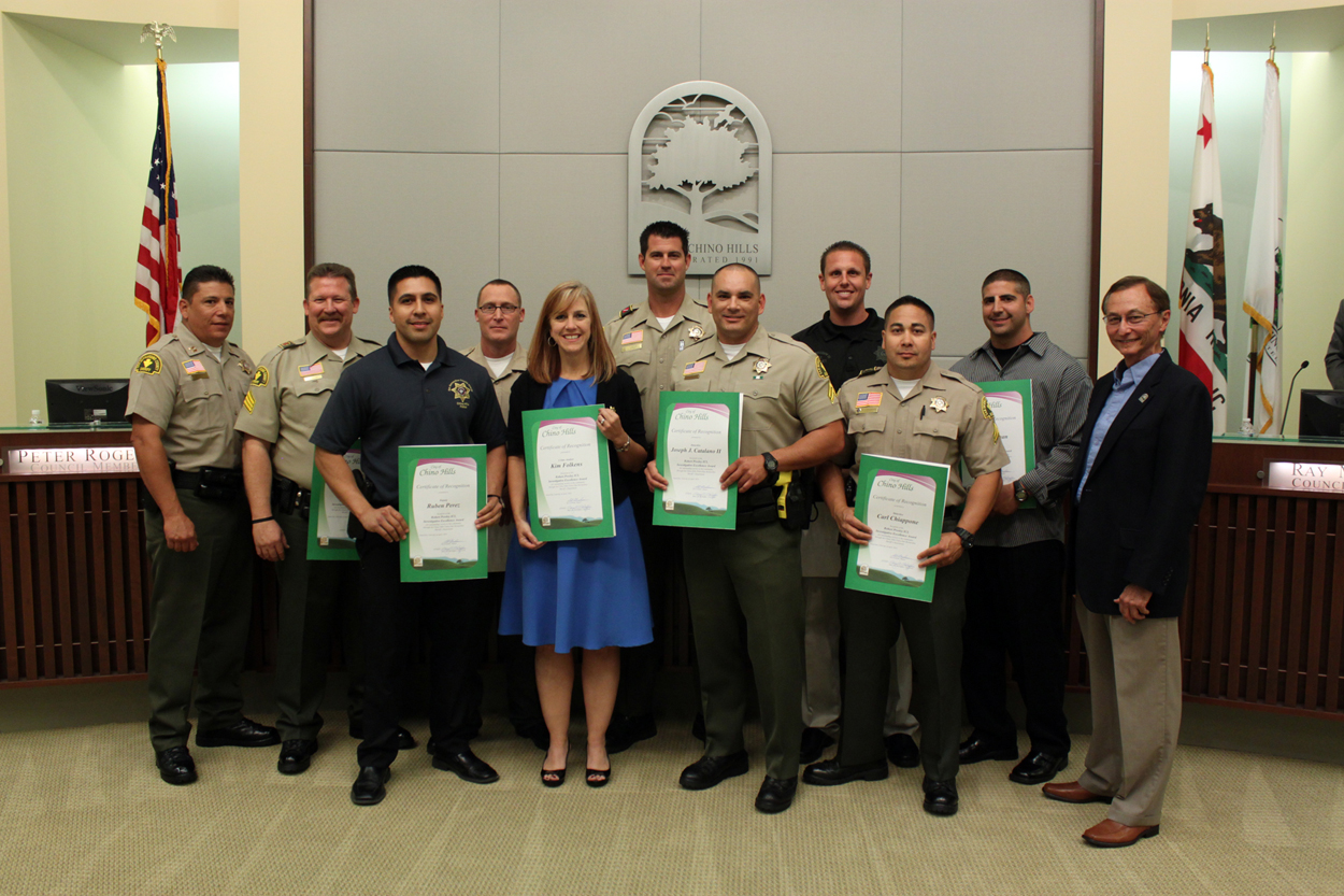 Sheriff Department's Robert Presley ICI, Investigative Excellence Award Honorees