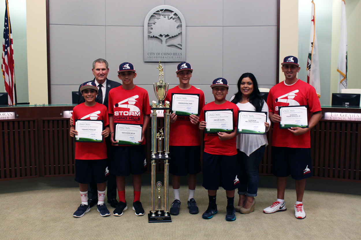 Chino Hills Storm 12U Baseball Team