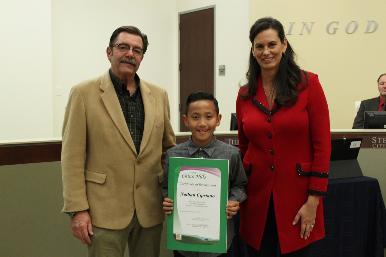 The 1st Place Winner of the Interview-a-Veteran Essay Contest