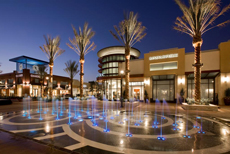 Interactive Fountain in the Promenade at the Shoppes at Chino Hills