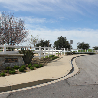 Photo of the La Sierra Trailhead from the street