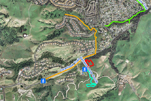 Map of Overlook Trail