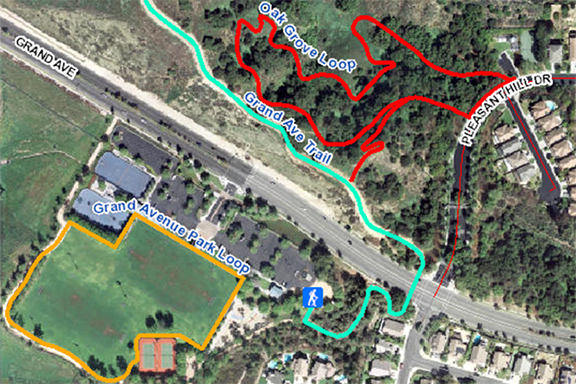 Map or Oak Grove and Grand Avenue Park Loops