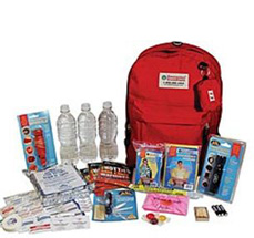 Picture of emergency kit and supplies