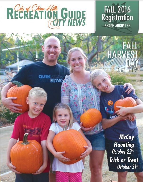 Fall 2016 Recreation Guide and City News