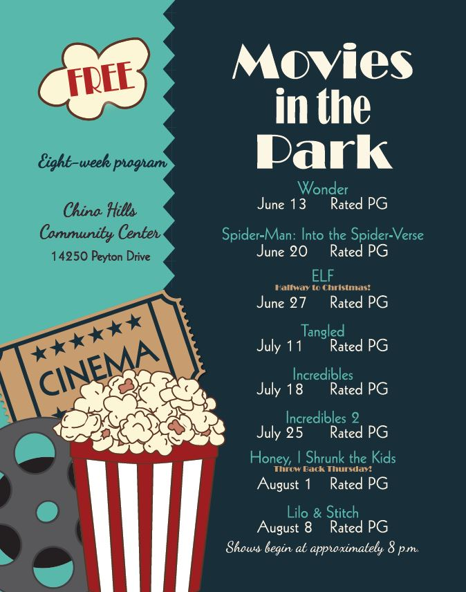 movies in the park flyer 2019