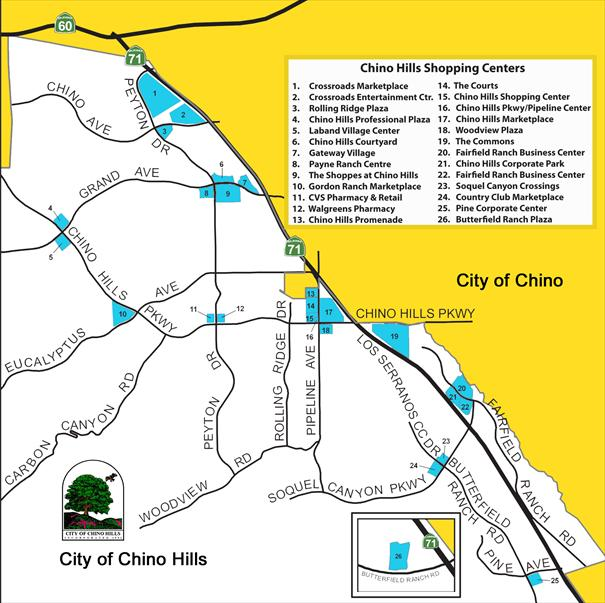 Chino Hills Shopping Centers