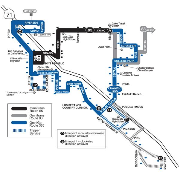 OmniGo New Route Map
